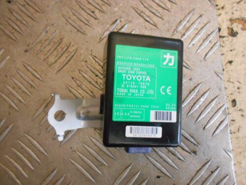 LEXUS CT200H 2014 SMART DOOR RECEIVER MODULE 89740-76070