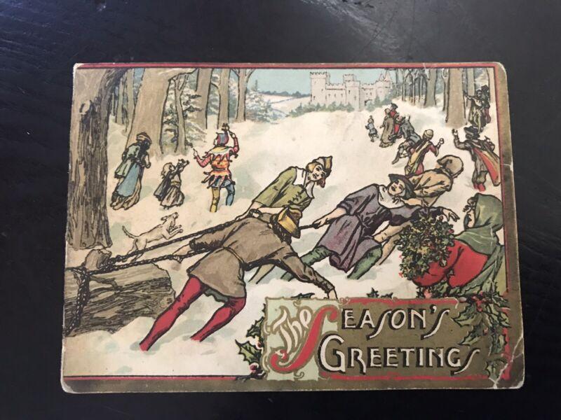 Antique Farm Journal Philadelphia Christmas New Year Subscription Card