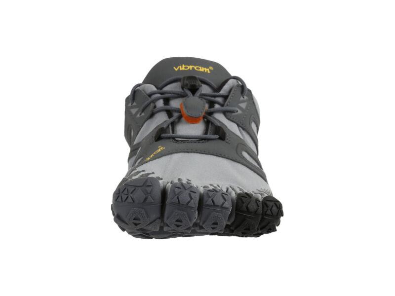 Vibram Men's V Trail Runner, Grey/Black/Orange, 8.5-9 M US / 41 EU V-Trail