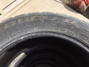 Bridgestone Dueller tires used P275/55R20