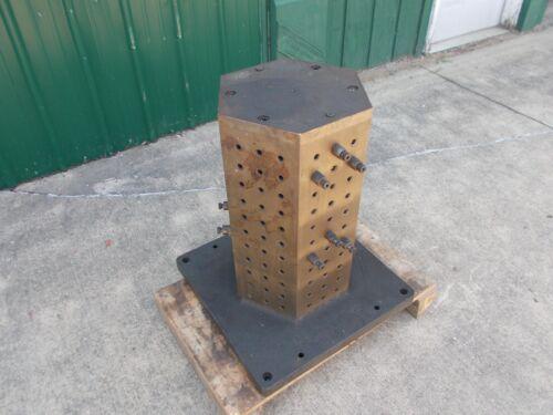 HEXAGONAL TOMBSTONE CNC MACHINE boring mill vise base riser work holding tool