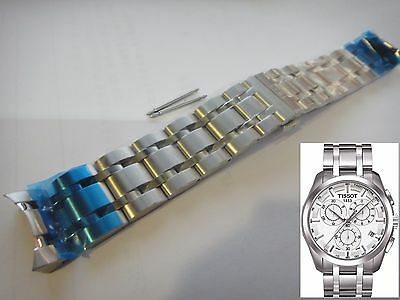 Original Tissot 23mm Couturier T Classic st steel band bracelet strap T035 Ø45mm