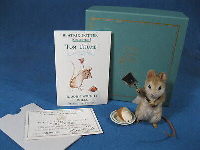 R John Wright Dolls, Beatrix Potter Collection, Tom Thumb Mouse, New in Box