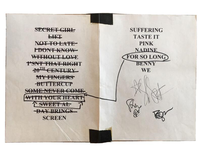 Brad Autographed Setlist Shawn Smith Pearl Jam 10/6/97