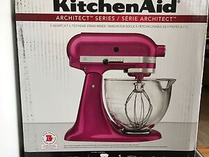 KitchenAid architect tilt-head stand mixer.
