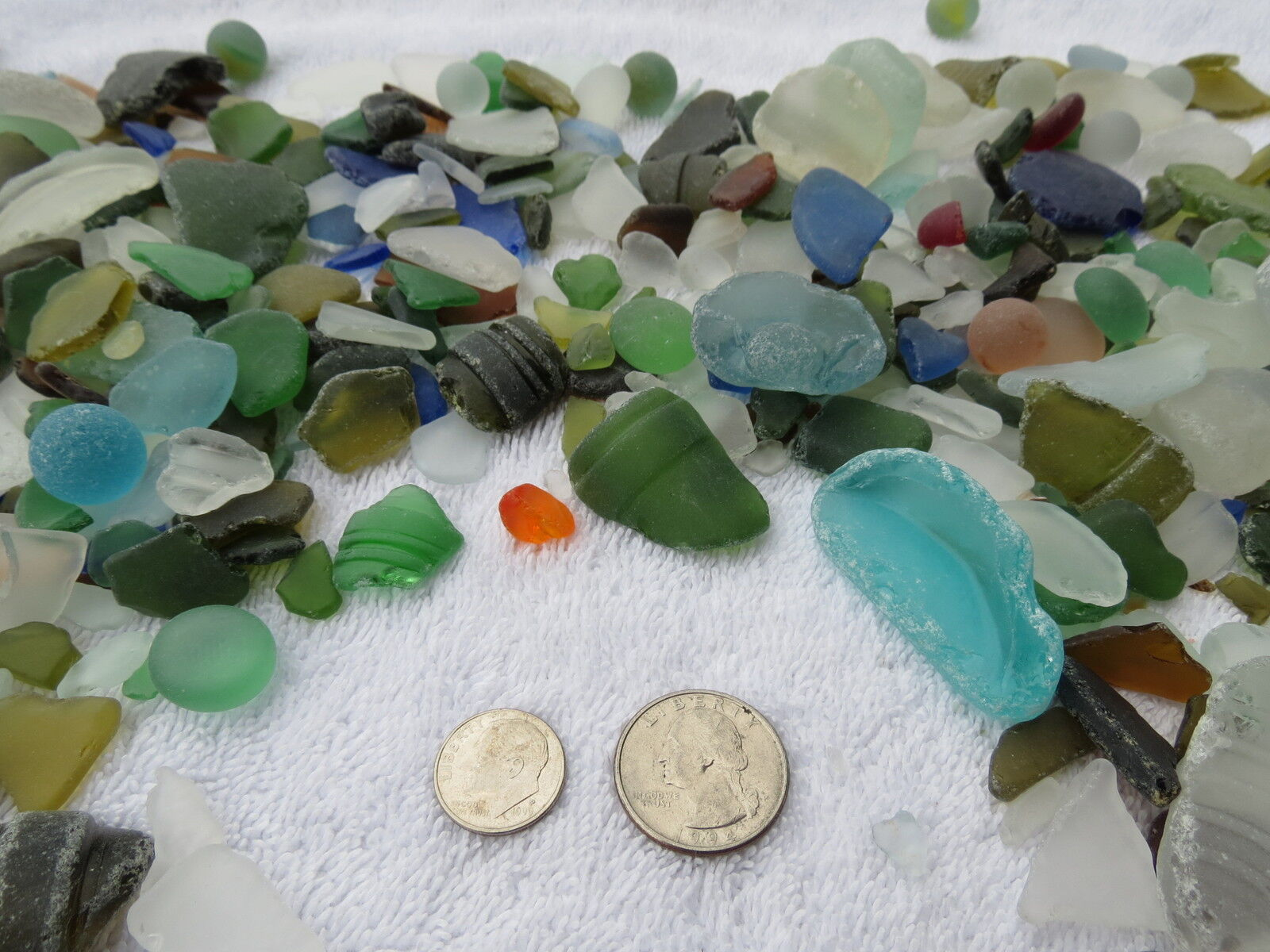 3 POUNDS MACHINE MADE RECYCLED TUMBLED BEACH SEA GLASS DECORATION