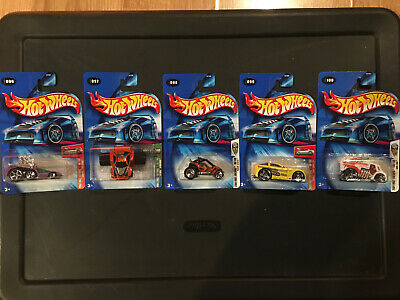 Hot Wheels 2004 First Editions 096, 097, 098, 099, 100. Unopened.