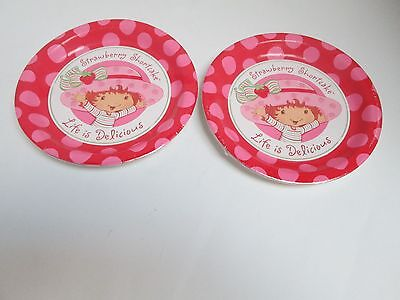 STRAWBERRY SHORTCAKE DINNER PLATES - LOT OF 2 = 16 PLATES - PARTY SUPPLIES - Dinner Party Plates
