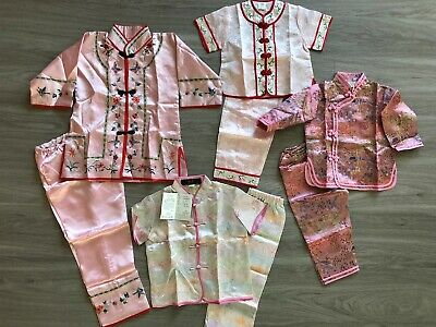 Pink Pants Halloween Costume (Girls Authentic ASIAN Chinese Clothing Dress or 2-pc Pant Sets Halloween)