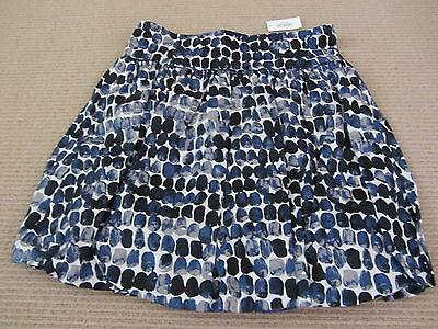 Kate Spade Saturday Cummerbund Bubble Skirt - US 6 - BNWT - Blue Paint Spots
