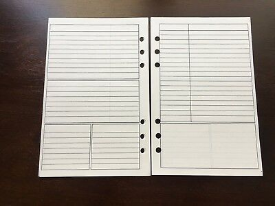 Notes Undated Refill For A5 6-ring Planner Organizer Insert Fits Filofax