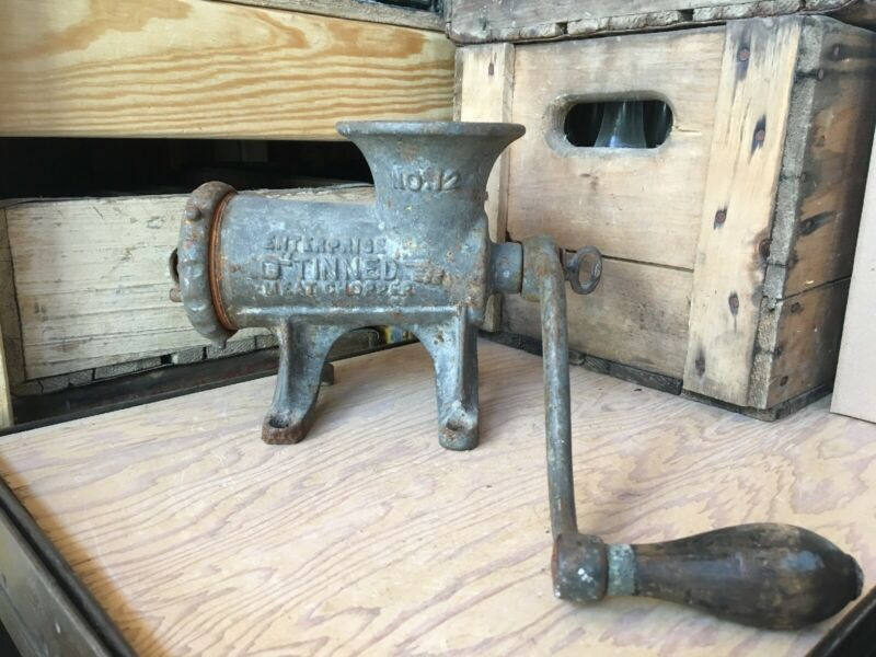 Vintage No. 12 Enterprise HD Cast Meat Grinder Philadelphia Pennsylvania Antique