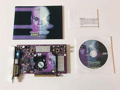 PNY Nvidia GeForce 4 Ti 4200, 64MB, AGP Grafikkarte, DVI, VGA, GF4Ti4200AGP8X64