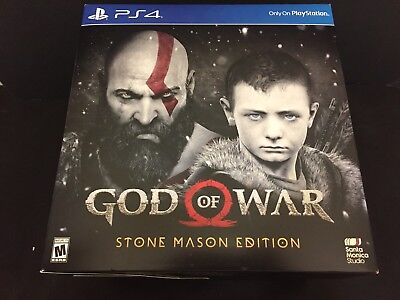 God Of War Ps4 Stone Mason Collectors Edition  2018  Brand New Sealed