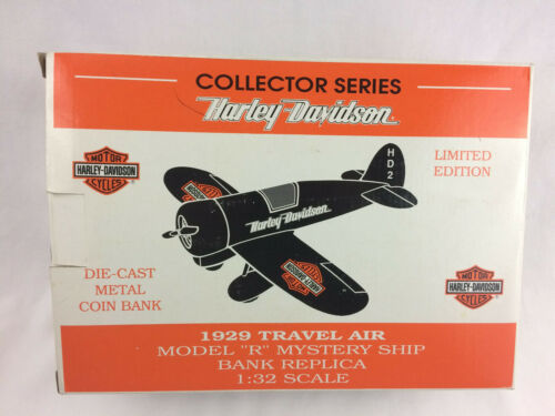 Harley Davidson Collector Series 1929 Model Airplane Die-Cast Bank - NEW In Box