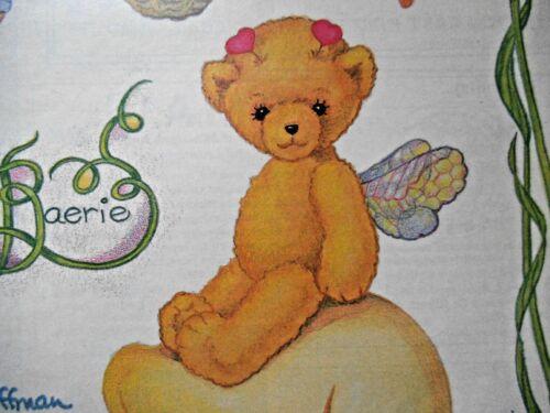 "VINTAGE ADORABLE TEDDY BEAR ""WOODLAND FAERIE"" BY SUSAN HOFFMAN - UNCUT - 1990***"