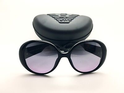 Emporio Armani Sunglasses Women EA 9607 Black Made In Italy Authentic Plus  Case