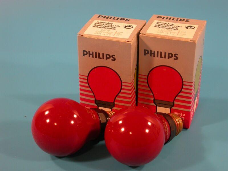 E27 PF712E Impact 15W Darkroom Red Safelight Lamp Bulb ES