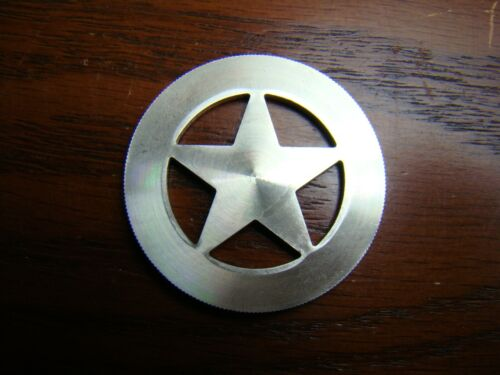*CUT OUT CINCO 5 PESO FROM WHICH TEXAS RANGER STYLE BADGE BADGES ARE MADE*