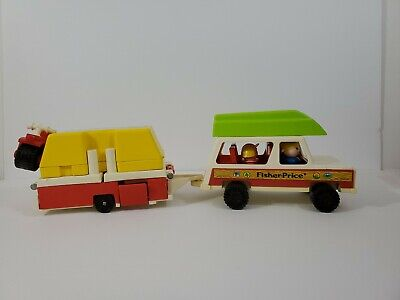 Vintage Fisher Price Little People #992 Pop-Up Camper Complete, #4