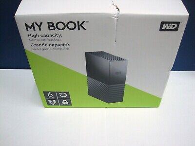 NEW/Sealed WD 6TB My Book Desktop External Hard Drive, USB 3.0 PC MAC FREE SHIP