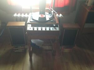 Symphonic Gerard record player and speakers