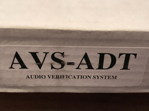 Honeywell Audio Verification System AVS-ADT Base Unit w/Remote Station