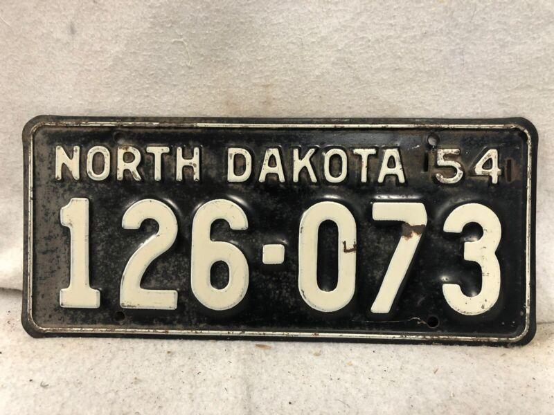 Vintage 1954 North Dakota License Plate