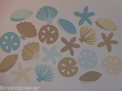 "20 assortment of sea shells  1"" - 2"" die cuts  scrapbook die cut"