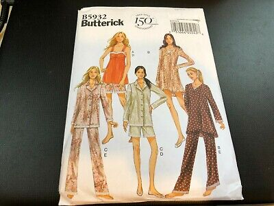 Pants Easy Pattern - Butterick Pattern B5932 Misses Pajamas- Camisole~Dress~Top~Shorts & Pants EASY!