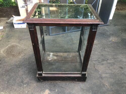 Antique General Store Floor Display Cabinet, Wood