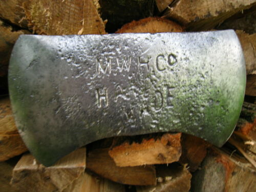 ANTIQUE MARSHALL WELLS HARDWARE CO. HAND MADE DOUBLE BIT AXE HEAD