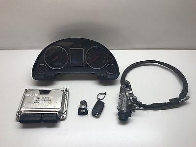 Audi A4 B6 2003 Diesel ECU Engine Speedo Ignition / Door lock Key Set