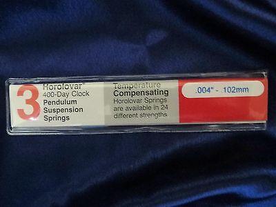 Schatz 49 400 Day / Anniversary Clock .0040 Suspension Spring / Wire - Horolovar
