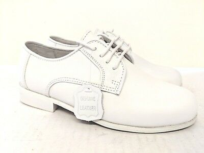 Vegace Boys Kids White Dress Leather Lace Communion Shoe (Sold As-Is) Boys White Dress Shoes