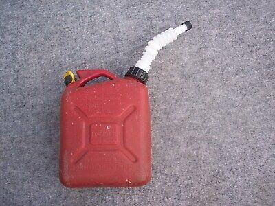 Wedco 1 Gallon Plastic Gas Gasoline Can Vented With Flexible Pour Spout Cap
