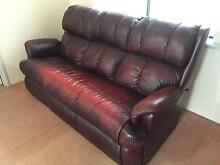Red leather sofa/couch Innaloo Stirling Area Preview