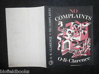 Original Vintage Tisdall Dustjacket (only) For No Complaints By O B Clarence -  - ebay.co.uk