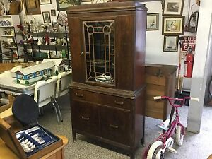 Walnut china cabinet $125 or best offer Kingston Kingston Area image 1