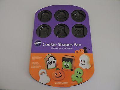 Wilton Cookie Pan Halloween Cavity Shapes Ghost Mummy Pumpkin Skull Party Decor - Wilton Halloween Cookie Decorating