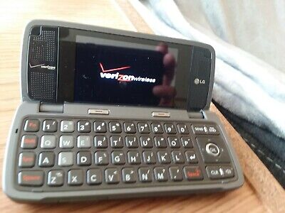 LG Voyager VX10000S Verizon Cell Phone TITANIUM Flip qwerty keyboard vCast 3G