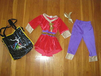 Costume Gallery CHINA DOLL dance recital outfit geisha halloween red purple Int](Geisha Halloween Outfit)