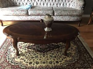 Maple coffee table and end tables, mint condition