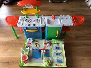 Just Like Home Toy Set : Just like home toy kitchen set & 35 piece accessories kit toys