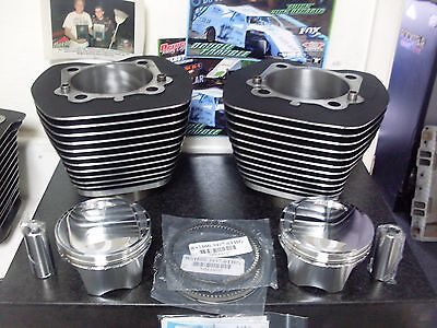 HARLEY TWIN CAM 107 CP PISTON OEM CYLINDERS KITS  BLACK  07 UP 10.25-10.50 CR