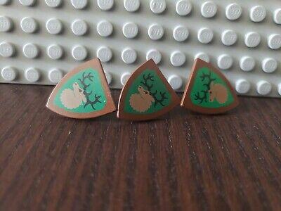 3 x LEGO Forestman Triangular Shield (3846) - Vintage Sets 6097 6024 6054 6077