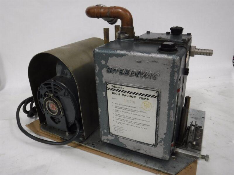 USED Edwards ES 330 SpeediVac High Vacuum Pump & GE Motor B