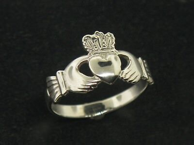 14K White Gold Irish Claddagh Ring Size 6 (Sale (White Gold Claddagh Ring)