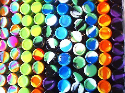50 New 5ml silicone containers everyday storage Non-stick FDA Grade Jar free S&H