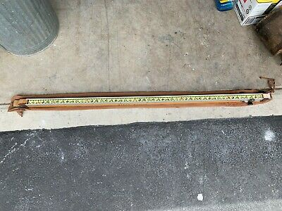 Sliding Surveyor Grade Rod Measuring Pole Grade Rob Cloth Cover Vintage 65